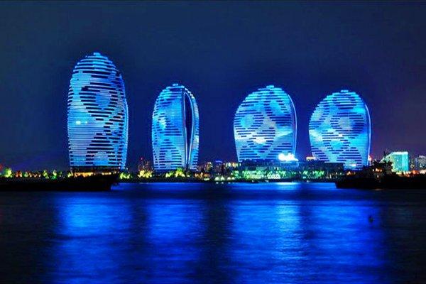 三亚蜈支洲岛夜景图片
