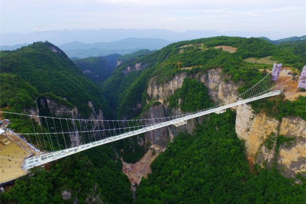 【挑战玻璃桥】张家界凤凰古城大峡谷玻璃桥墨戎苗寨飞动五日
