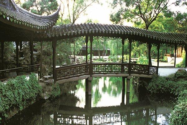 苏州园林定园,七里山塘街,太湖湿地公园超值一日游