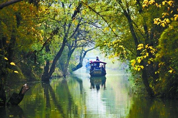 """【春暖花开·醉美西塘】杭州西湖、""""非诚勿扰""""西溪湿地、夜游西塘休闲二日游"""